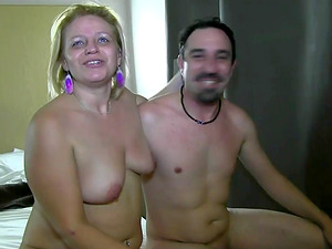 Amateur couple Juan y Cristina showing us their lustful sex moves