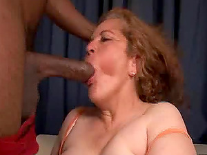 Granny Marina wants to be plowed by her black lover