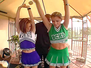 Black Mark Anthony boning cheerleaders Allie Sin and Courtney Cummz