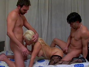 Deborah awarding big cocks with superb blowjob indoors
