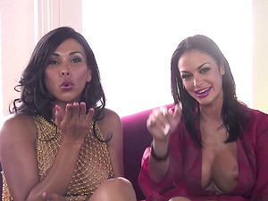 Superb lesbian sex with bombshells Angelina Valentine and Vanity