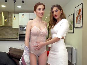 Caomei Bala and Jimena Lago team up for a threesome