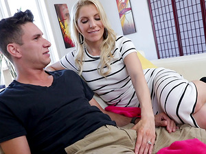 Ashley Fires is a hot MILF who knows how to choke on a prick