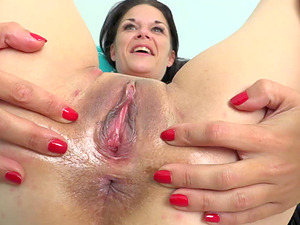 Veronica plows her pussy with a huge black love toy