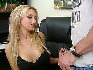 Natalie Vegas fucks Peter North 'cause she's impatient to taste his jizm