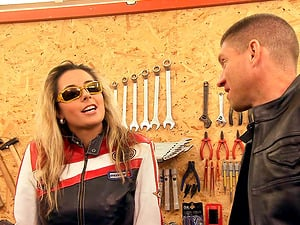 Daria Glower is a nasty biker chick ready for a fuck