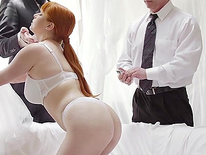 Gorgeous babe Penny Pax is happy to make a couple od cocks stiff