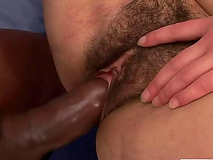 Horny brown-haired cougar Winnie Franco gets her hairy snatch black balled