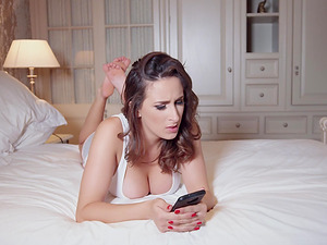 Ashley Adams is a honey in black fishnets who loves to fuck hard