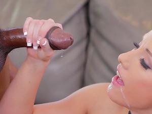Huge black boner is all Jennifer White craves up her hole