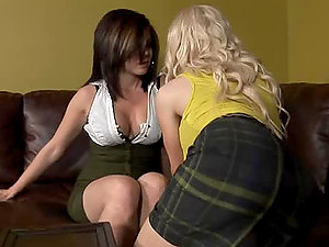 Two horny women having wild girl/girl fuck-a-thon at work