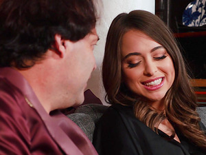 Riley Reid is a gorgeous brunette craving a skillful man's dick