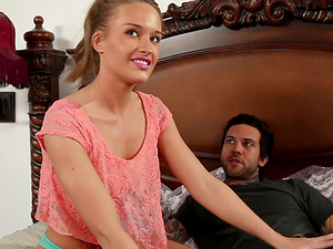 April Brookes seduces a tattooed man for a sex session