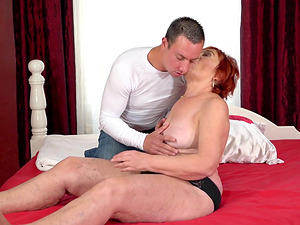 Marsha is a horny grandma seduced for a hot sex session