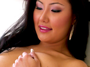 Jade Luv opens her mouth for a nasty man's erected penis