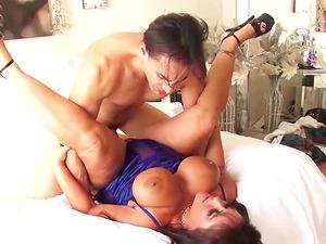 Huge Tits MILF Facial and Eating Cum
