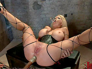 Frolicking and Fucking a Buxomy Blonde's Butt in FFM Threesome