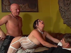 Bride Makes a Hotwife out of Her Groom on the Wedding Day