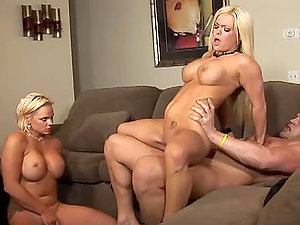 Cortknee and Crista Moore share a dick in gonzo FFM act