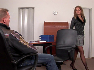 Lauryn May is a horny businesswoman craving a big boner