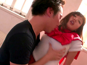 Hot Japanese Mao Hamasaki seduces a man for a great sex game