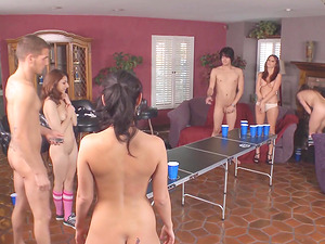 Charley Chase and her horny girlfriends are happy to ride boners