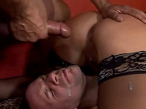 Bad chick Tara Rochester has joy with two bisexual guys