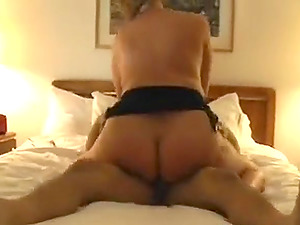 Voluptuous housewives share a cock