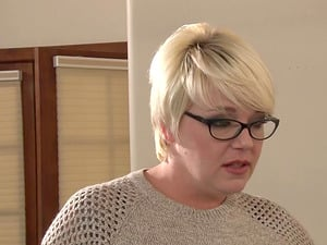Fat cock for a honey in glasses Victoria Paradice and another blonde