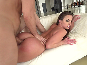 Lusty Amirah Adara receiving a schlong in her pussy and asshole