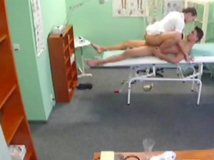 Sex therapy with a nurse in a hospital room