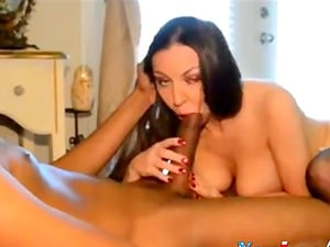 Hot wife gets a rough bed sex in a reality shoo
