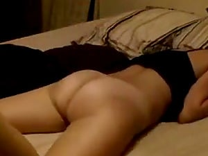 Hot milf gets her hairy pussy licking by her hubby in bed.