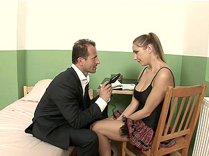 Sweet Amy A gets her tight pussy pounded by her horny boss