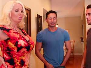 Busty babe Alura Jenson needs more than one dick to reach an orgasm