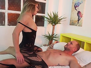 Awesome Lara West get her pussy stretched with a monster pecker
