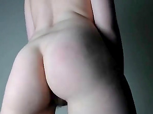 Hairy Teen stripping and masturbating live on webcam