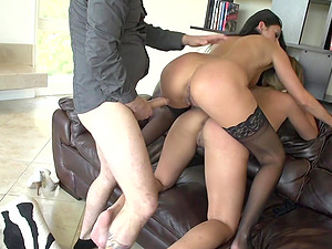 One fat dick is enough to satisfy Nikki Daniels and her hot friend
