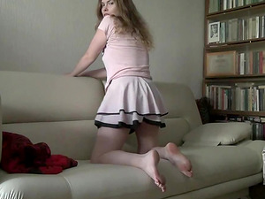 Horny slutty girl Johane shows how slutty she is