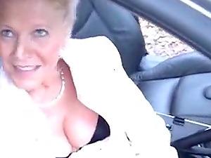 Pretty slut mature masturbates sucks a voyeur and fucking in forest