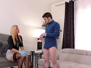 Blonde India Summer cheats on her boyfriend with a black guy
