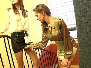 Two sexy lesbians want to satisfy one another with a vibrator