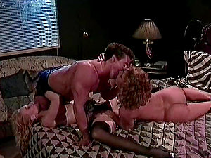 Duo Of Damsels Fucked Hard By A Horny Stud.