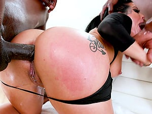 Awesome babe Katrina Jade needs more than one black dick