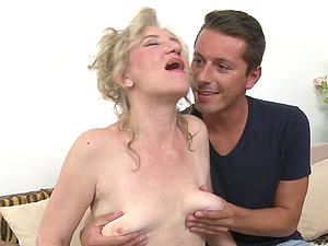 Granny Janka E. is experienced in riding throbbing cocks