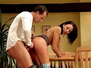 Sexy Mom Eva Torres Fucked Hard On The Table