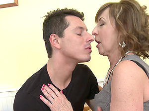 Amazing chick Danny has to moan while a neighbor bangs her