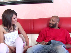 Coco Velvett interracial pussy destruction with her tight shaved pussy