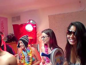 Hardcore group sex college party with Tali Dova and Luna Delovo