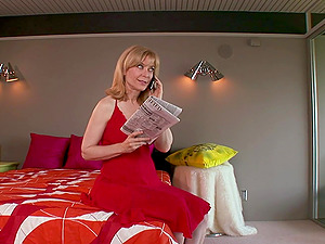 Stunning Nina Hartley and another babe need only one cock